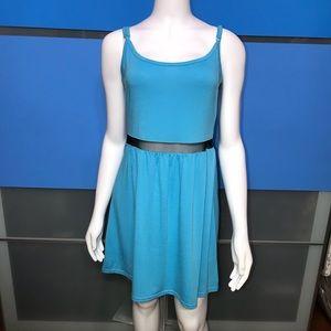 DEREK HEART • Blue Skater Dress 👗/ size (S)